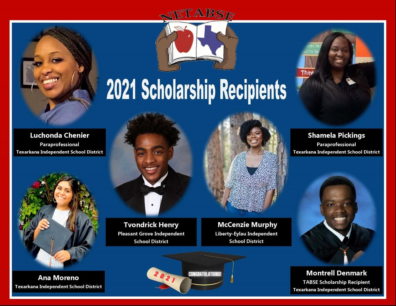 NETABSE 2021 Scholarship Recipients